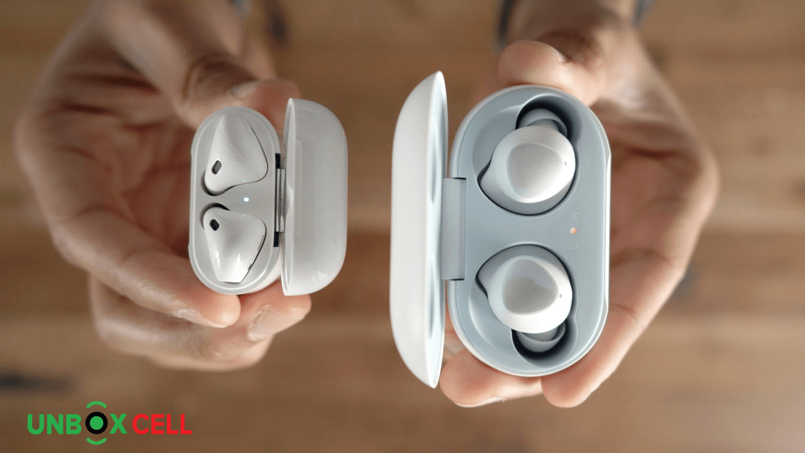 Apple Air Pods 2 vs Samsung Galaxy Buds The Connectivity- unbox cell
