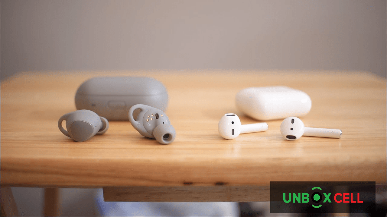 Apple Air Pods 2 vs Samsung Galaxy Buds The Quality of the call-unbox cell