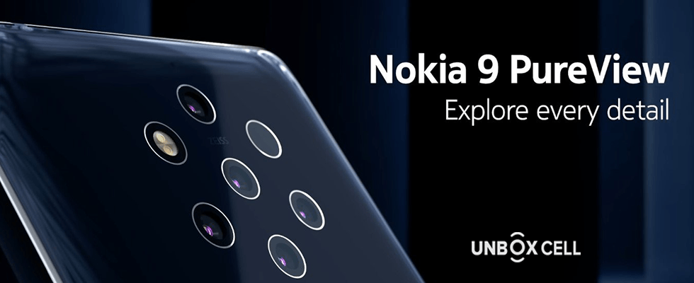 Nokia 9 Pure View Super five rear cameras for perfect photos: Unbox Cell