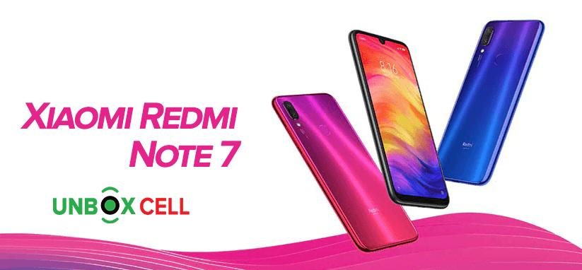 Xiaomi Redmi Note 7- unbox cell