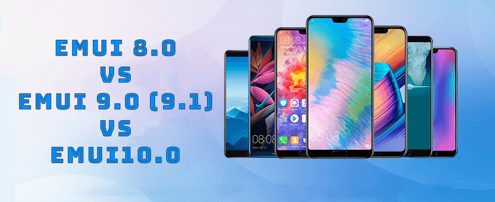 Emui 8.0 vs Emui 9.0 (9.1) vs Emui10.0 - unbox cell