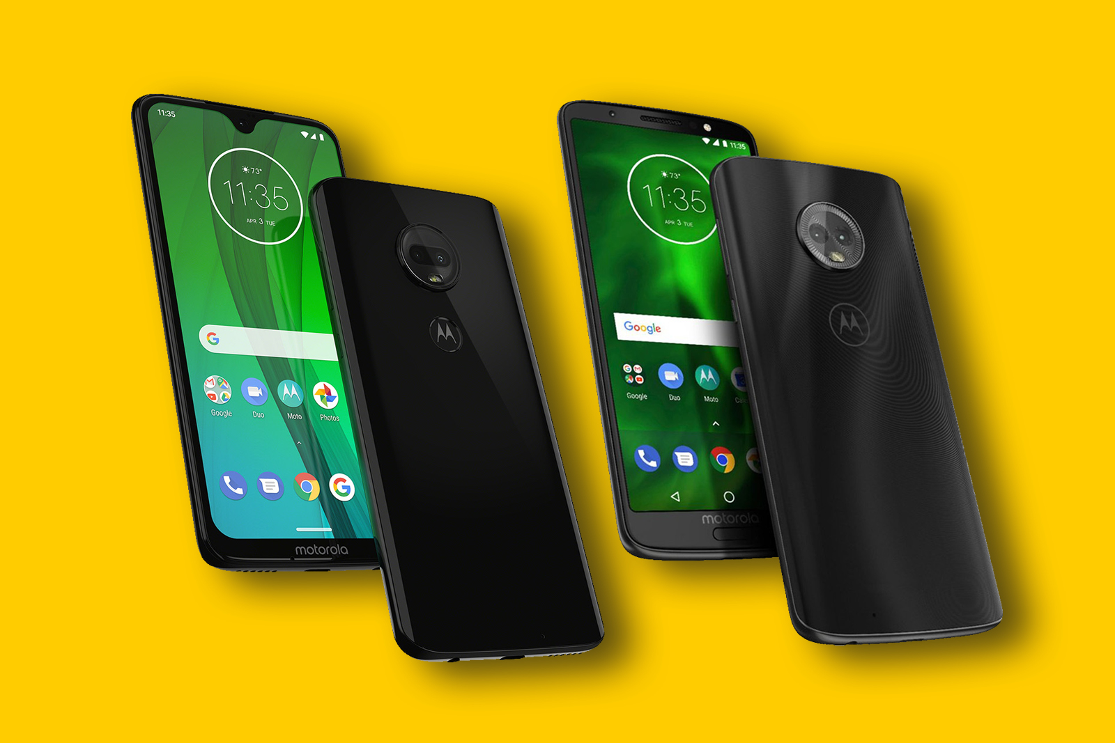 Comparison of Moto G6 vs Moto G7: nonstop wishes