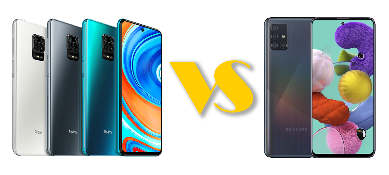 Samsung A51 vs Redmi Note 9 Pro: unbox cell