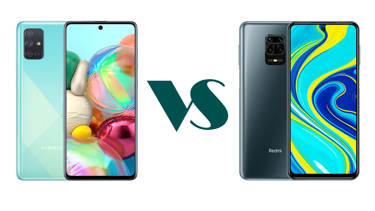 Samsung A71 vs Redmi Note 9s: unbox cell